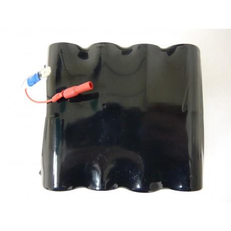 CHRONO Pile Batterie Alarme Compatible SES - 16LR20 Alcaline - 12V - 36Ah + Connecteur