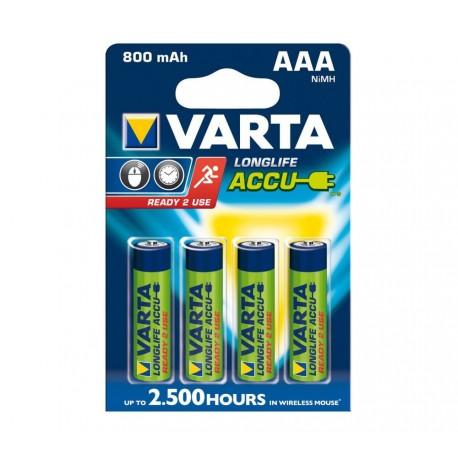 VARTA HR03 - AAA 1.2V 800mAh - Blister de 4