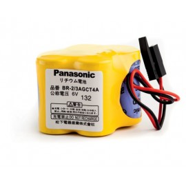 PANASONIC Pack pile lithium BR 2/3 A - 6v - 2400mAh + connecteur noir