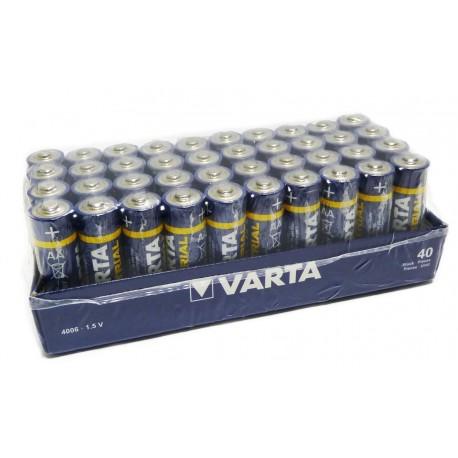 Piles VARTA LR6 - LR06 - AA Industrial - UM4 - Pack de 40 - 1.5V