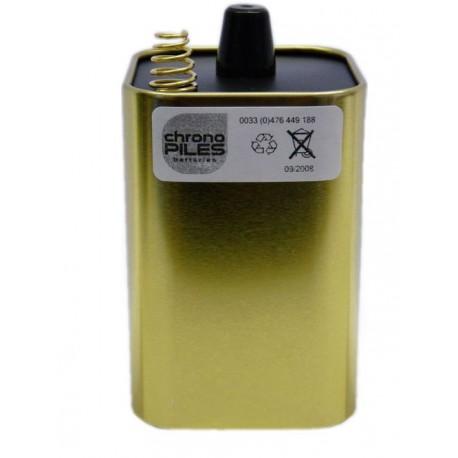 1ER PRIX Pile Alcaline 4LR25 - Ecoli - Ressort Métal