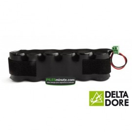Batterie Alarme TALCO / DELTA DORE - 6LR20 Alcaline - 9V - 18Ah + Connecteur