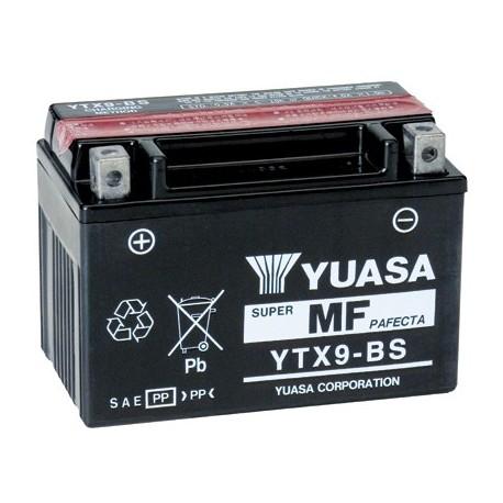 Batterie moto YTX9-BS/GTX9-BS Yuasa avec pack acide - 12V – 8Ah