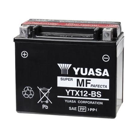 YUASA Batterie Moto - YTX12-BS - 12V – 10Ah