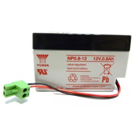 CHRONO Batterie Plomb – 12.0V –0.8Ah + Connecteur