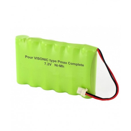 Batterie Alarme Compatible VISONIC - AA – 7.2V - 1300mAh + Connecteur