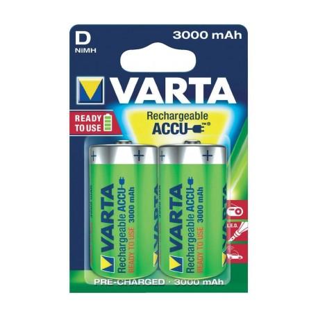 VARTA - Piles HR20 - D - rechargeables - 3000 mAh - Blister x2