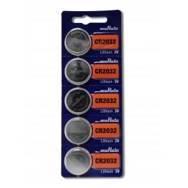 Murata Pile Bouton Lithium - CR2032 Standard - BATLI09 - Carte de 5