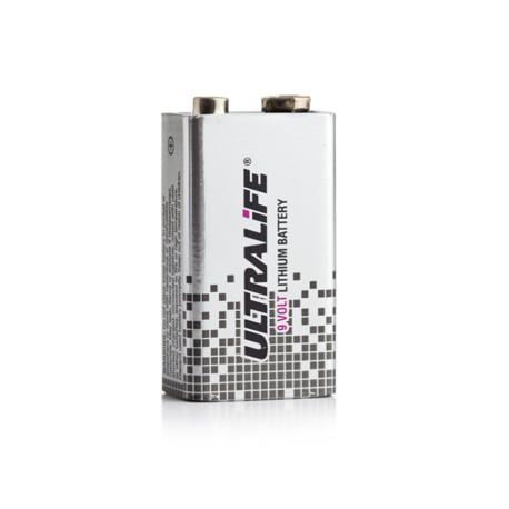 Pile ULTRALIFE - Format 6LR61 UltraLife U9VL- J U9VL J - Métal - BATLI10 - Lithium - 9V